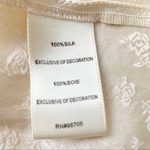 Rebecca Taylor Tops - Rebecca Taylor cream beige silk lace blouse